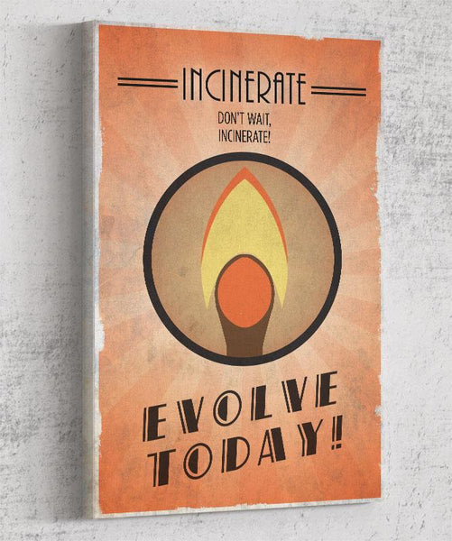 Bioshock Plasmid Incinerate Canvas by The Pixel Empire - Pixel Empire