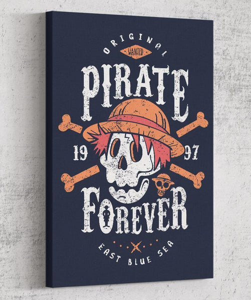 Wanted Pirate Forever Canvas by Olipop - Pixel Empire