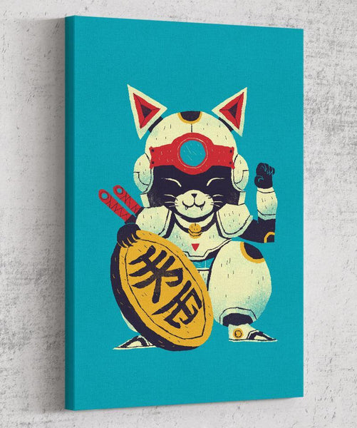 Lucky Pizza Cat Canvas by Louis Roskosch - Pixel Empire