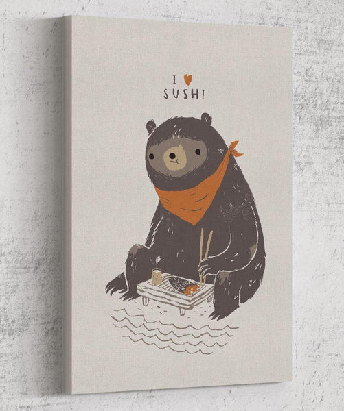 Sushi Bear Canvas by Louis Roskosch - Pixel Empire
