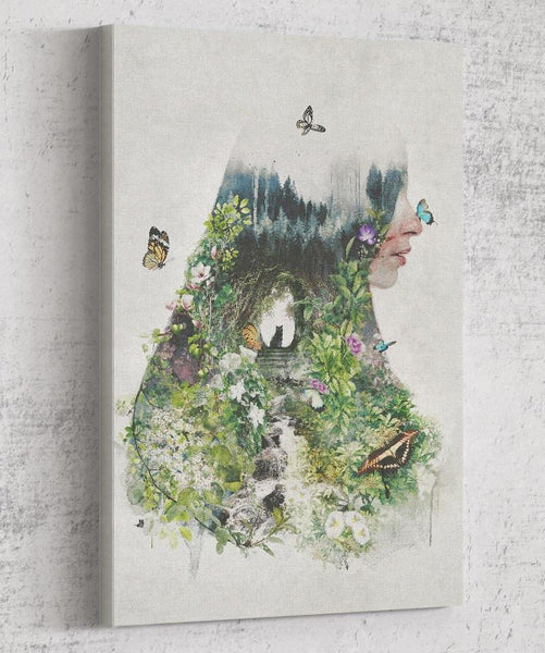 Cat In the Garden Canvas by Barrett Biggers - Pixel Empire