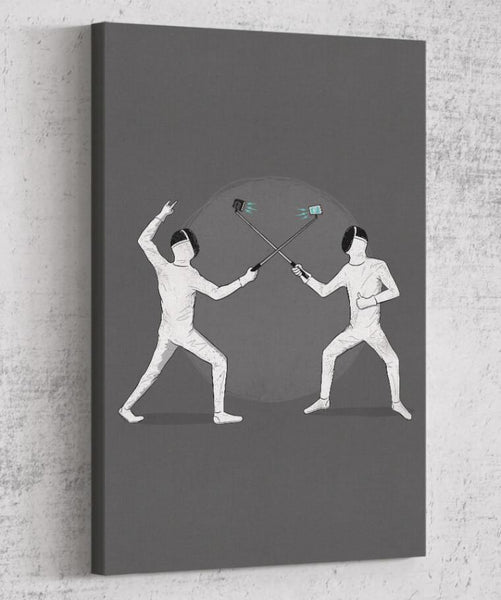 Battle of the Egos Canvas by Grant Shepley - Pixel Empire