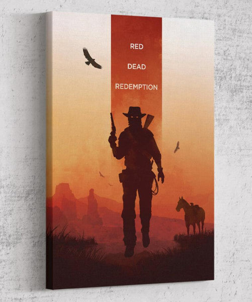 Red Dead Redemption Canvas by The Pixel Empire - Pixel Empire