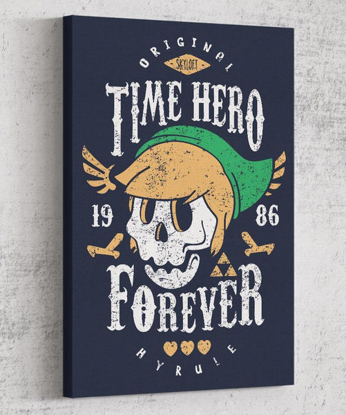 Time Hero Forever Canvas by Olipop - Pixel Empire