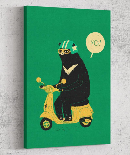 Scooter Bear Canvas by Louis Roskosch - Pixel Empire