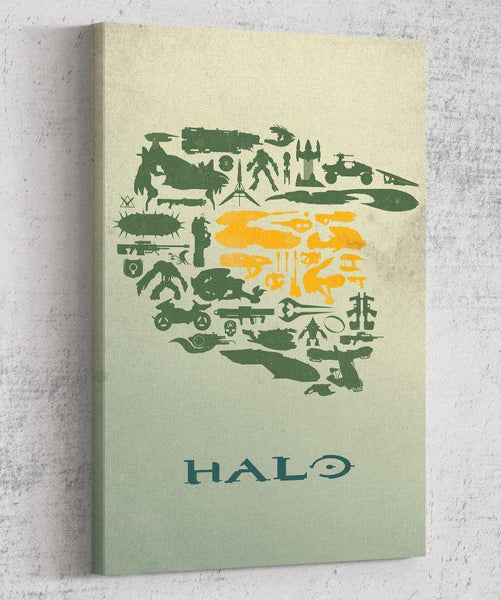 Halo Collage Canvas by The Pixel Empire - Pixel Empire