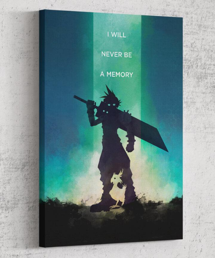 Final Fantasy VII - I Will Never Be a Memory Canvas by Dylan West - Pixel Empire