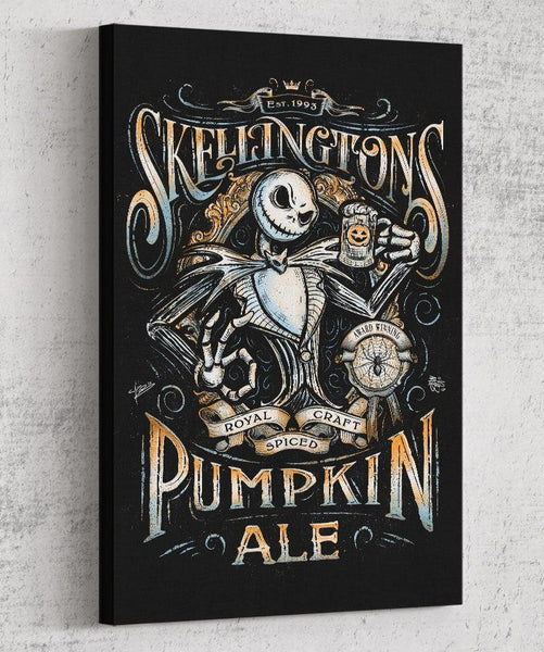 Skellington's Pumpkin Ale Canvas by Barrett Biggers - Pixel Empire