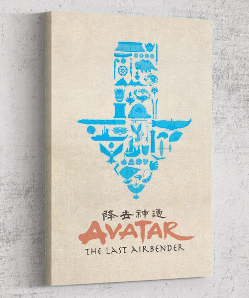 Adventures with Aang Canvas by Dylan West - Pixel Empire