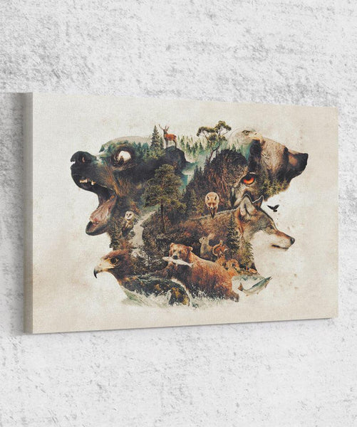 Food Chain Canvas by Barrett Biggers - Pixel Empire