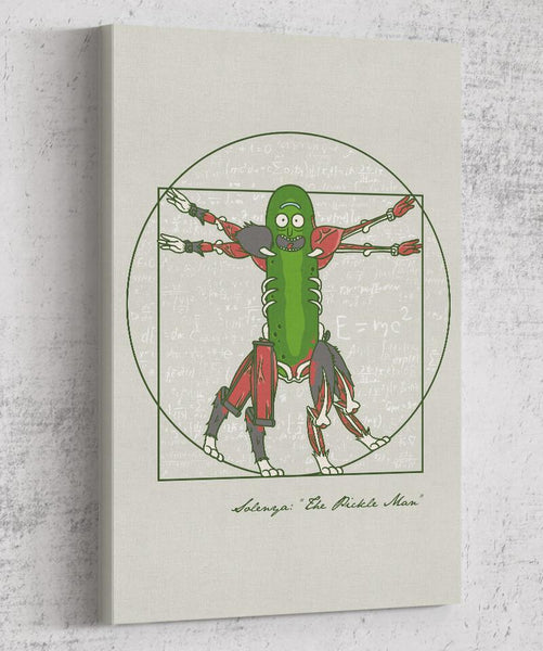 Vitruvian Pickle Man Canvas by COD Designs - Pixel Empire