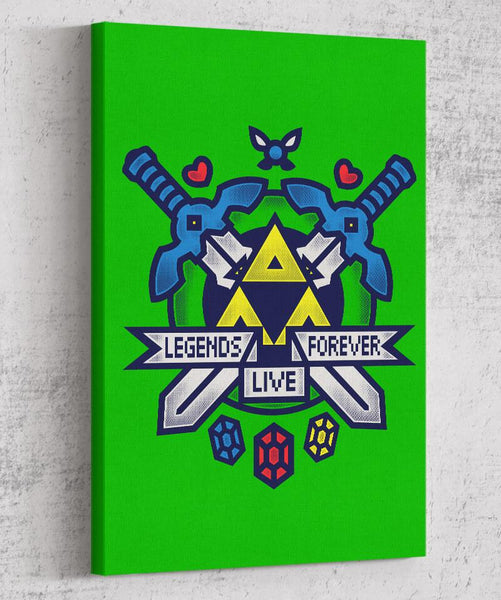 Legends Live Forever Canvas by COD Designs - Pixel Empire