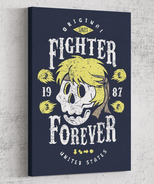 Fighter Ken Forever Canvas by Olipop - Pixel Empire