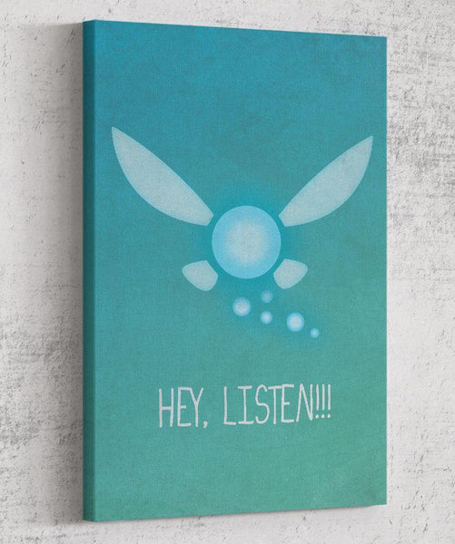 Hey Listen Canvas by Dylan West - Pixel Empire