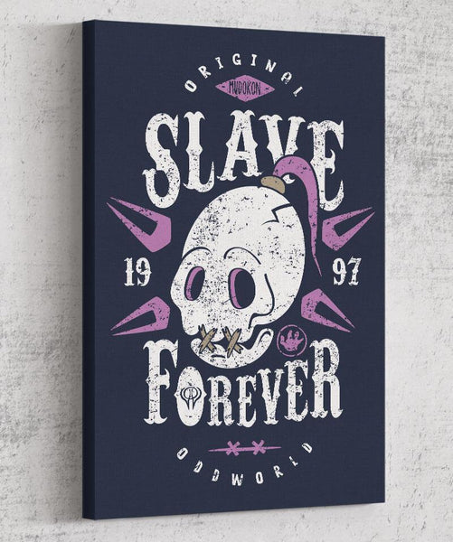 Slave Forever Canvas by Olipop - Pixel Empire