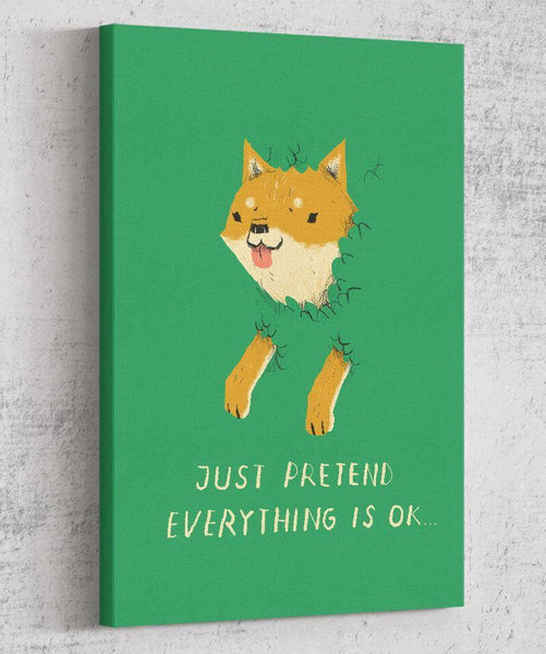 Bush Shiba Canvas by Louis Roskosch - Pixel Empire