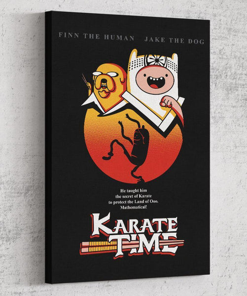 Karate Time Canvas by Olipop - Pixel Empire