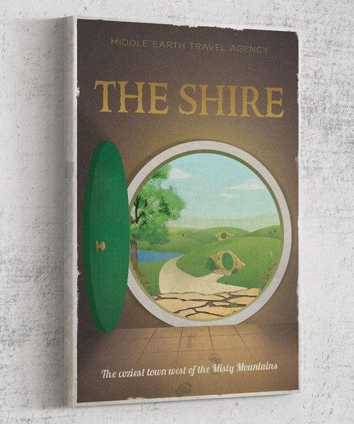 The Shire Travel Poster Canvas by The Pixel Empire - Pixel Empire
