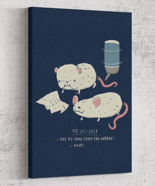 Pinky & the Brain To Do List Canvas by Louis Roskosch - Pixel Empire