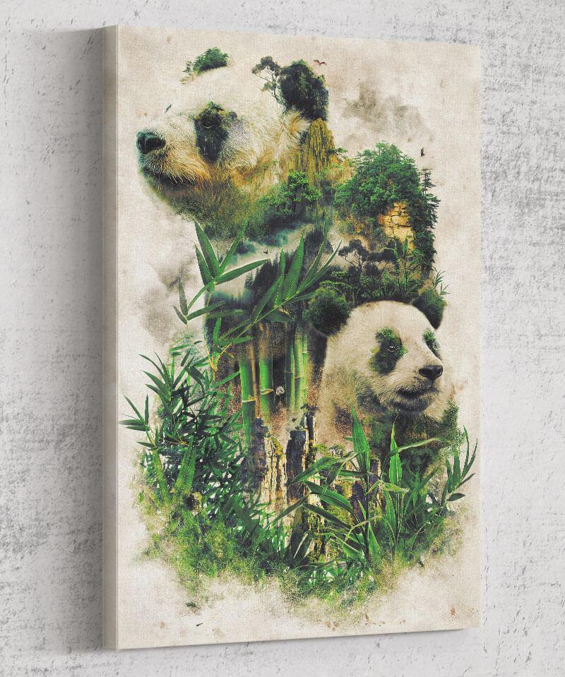 Panda Montage Canvas by Barrett Biggers - Pixel Empire