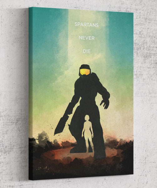 Halo - Spartans Never Die Canvas by The Pixel Empire - Pixel Empire