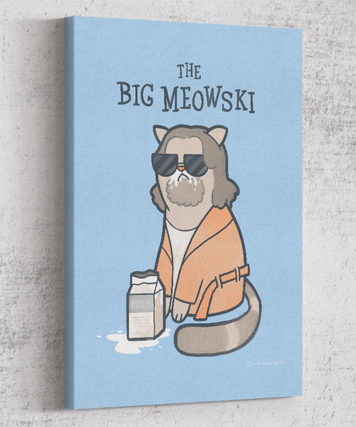 The Big Meowski Canvas by Anna-Maria Jung - Pixel Empire
