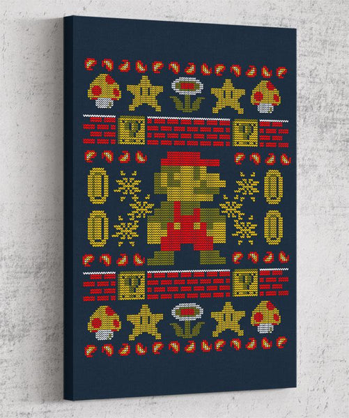 Super Ugly Sweater Canvas by Punksthetic - Pixel Empire