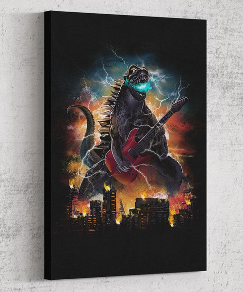 Guitarzilla Canvas by Dan Elijah Fajardo - Pixel Empire
