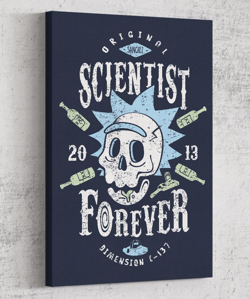 Scientist Forever Canvas by Olipop - Pixel Empire