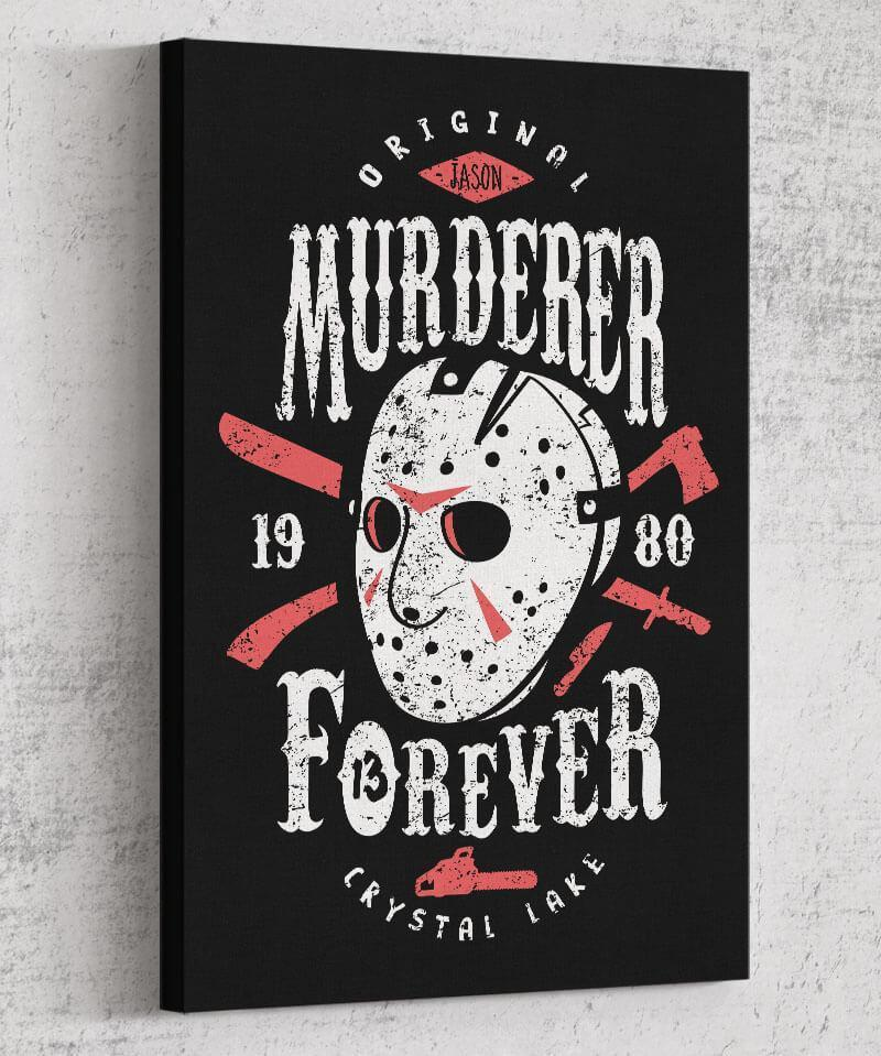 Murderer Forever Canvas by Olipop - Pixel Empire