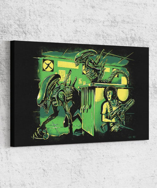 Jurassic Xenomorphs Canvas by Barrett Biggers - Pixel Empire