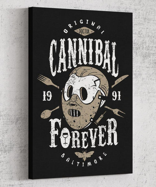 Cannibal Forever Canvas by Olipop - Pixel Empire