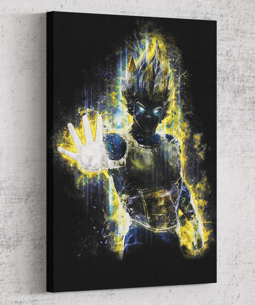 Vegeta Canvas by Barrett Biggers - Pixel Empire