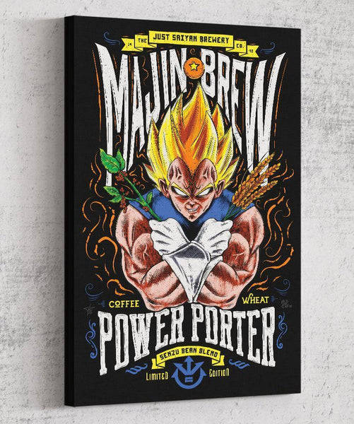 Majin Brew Canvas by Barrett Biggers - Pixel Empire
