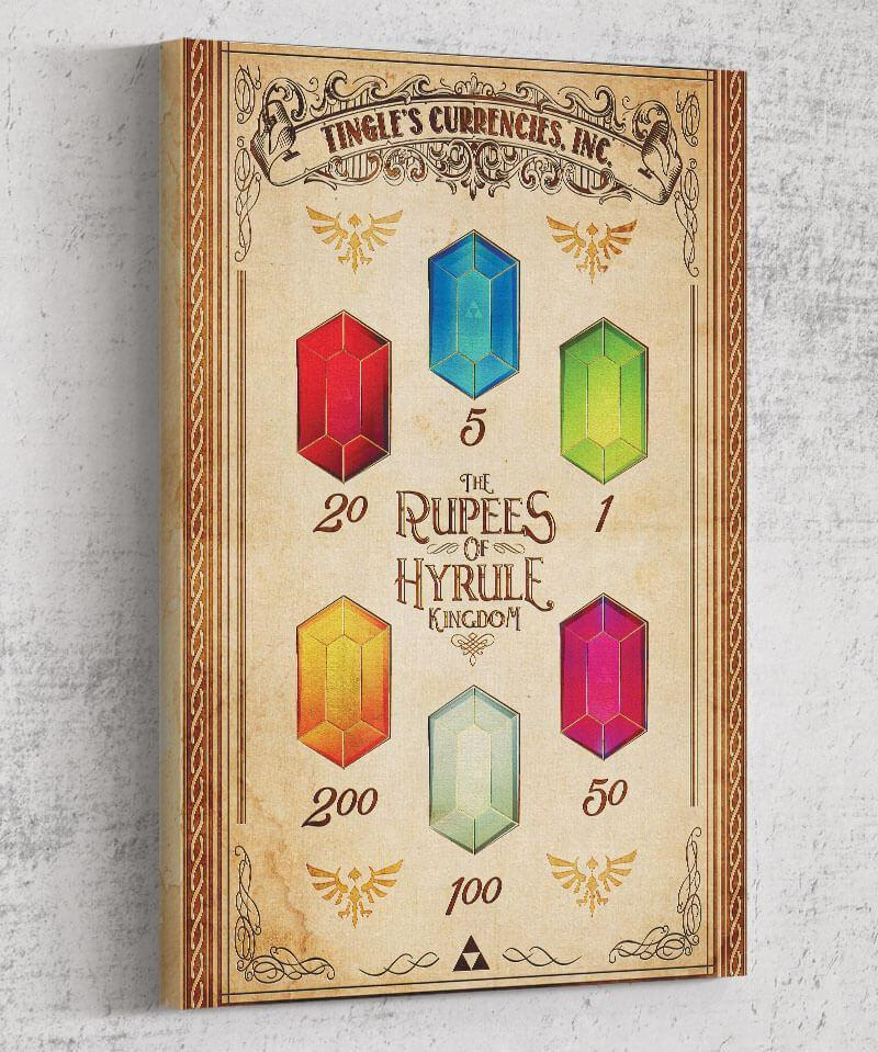 Rupees of Hyrule Canvas by Barrett Biggers - Pixel Empire