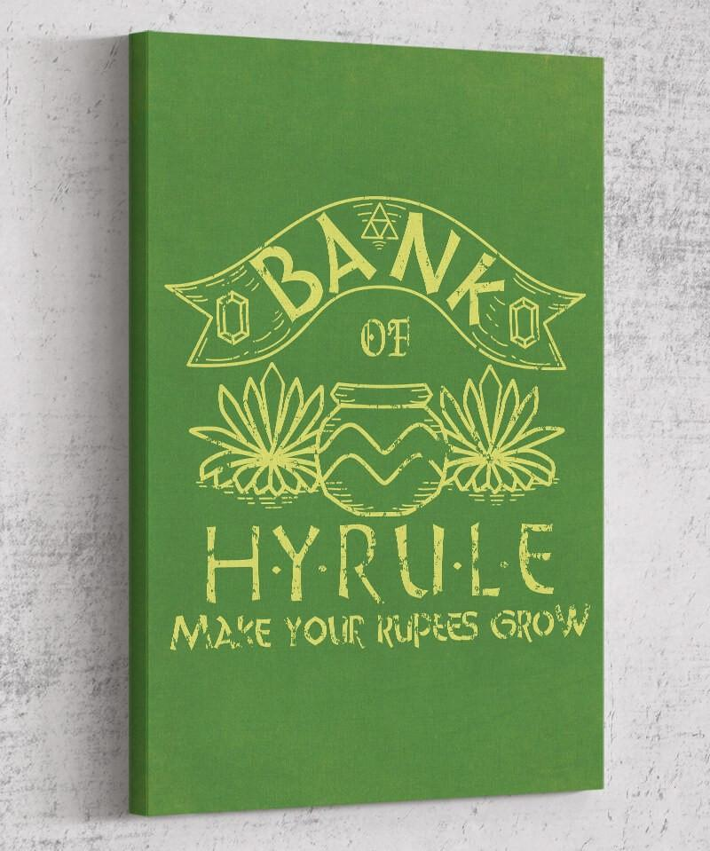 Bank of Hyrule Canvas by Legendary Phoenix - Pixel Empire