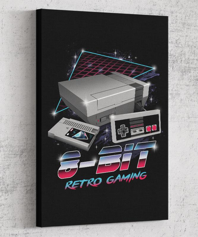 8-Bit Retro Gaming Canvas by Vincent Trinidad - Pixel Empire