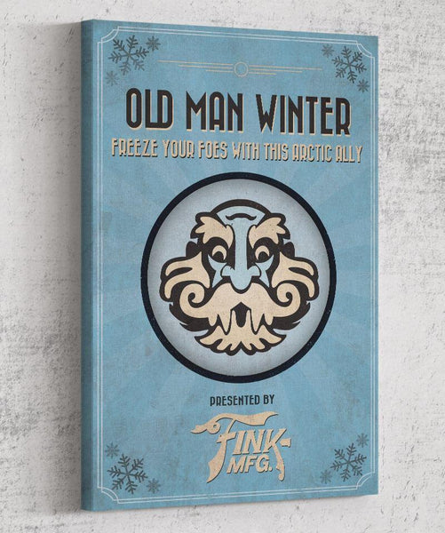 Bioshock Vigor Old Man Winter Canvas by The Pixel Empire - Pixel Empire