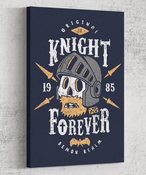 Knight Forever Canvas by Olipop - Pixel Empire