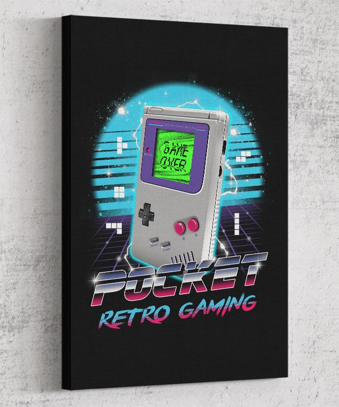 Pocket Retro Gaming Canvas by Vincent Trinidad - Pixel Empire