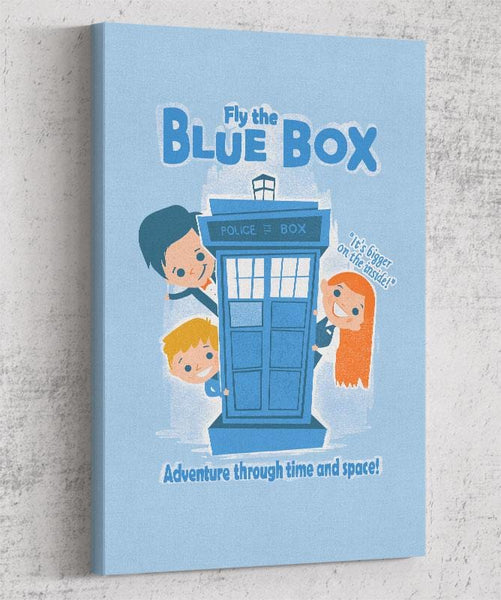 Fly The Blue Box Canvas by Anna-Maria Jung - Pixel Empire