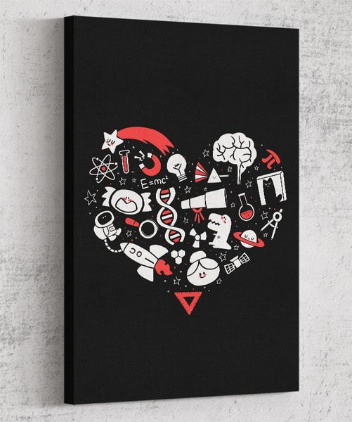 I Heart Science Canvas by Anna-Maria Jung - Pixel Empire