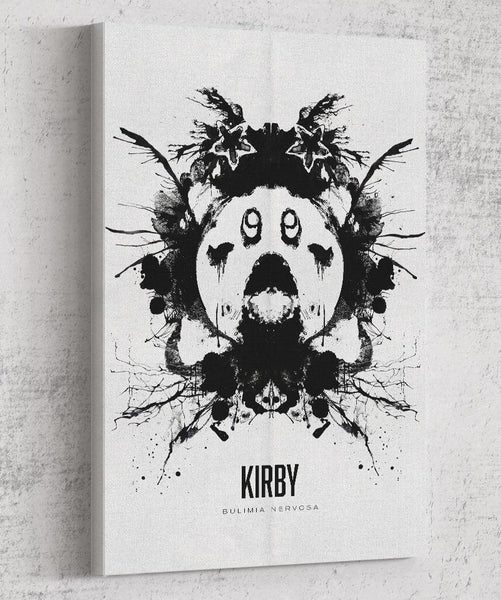 Kirby Ink Blot Canvas by Barrett Biggers - Pixel Empire