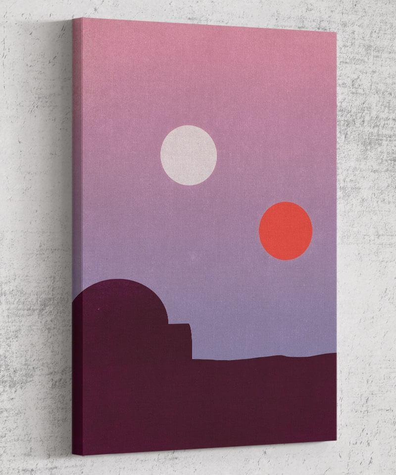 A New Hope Minimalisim Canvas by Dylan West - Pixel Empire