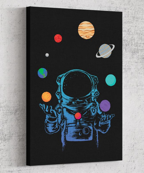 Space Juggler Canvas by Daniel Teres - Pixel Empire