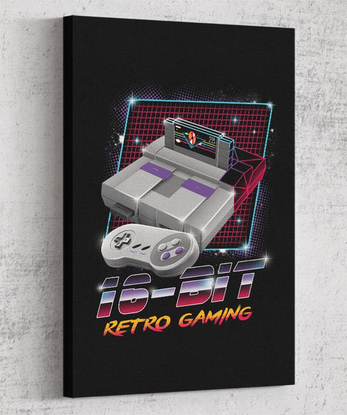 16-Bit Retro Gaming Canvas by Vincent Trinidad - Pixel Empire