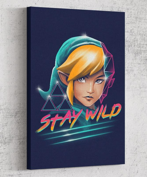 Stay Wild Canvas by Vincent Trinidad - Pixel Empire