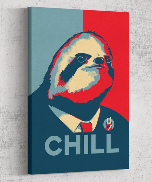 Sloth for President Canvas by Grant Shepley - Pixel Empire