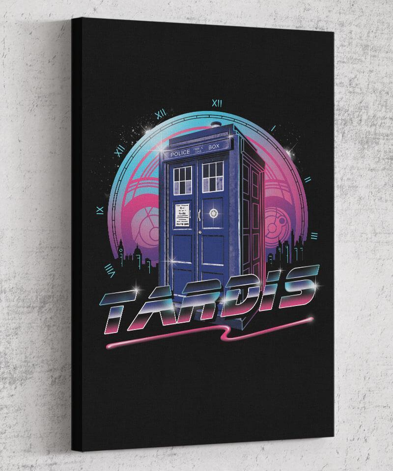 Rad Tardis Canvas by Vincent Trinidad - Pixel Empire