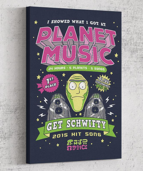 Planet Music Winner Canvas by Olipop - Pixel Empire
